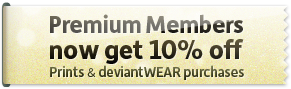 Premium Members now get 10% off prints and deviantWEAR purchases