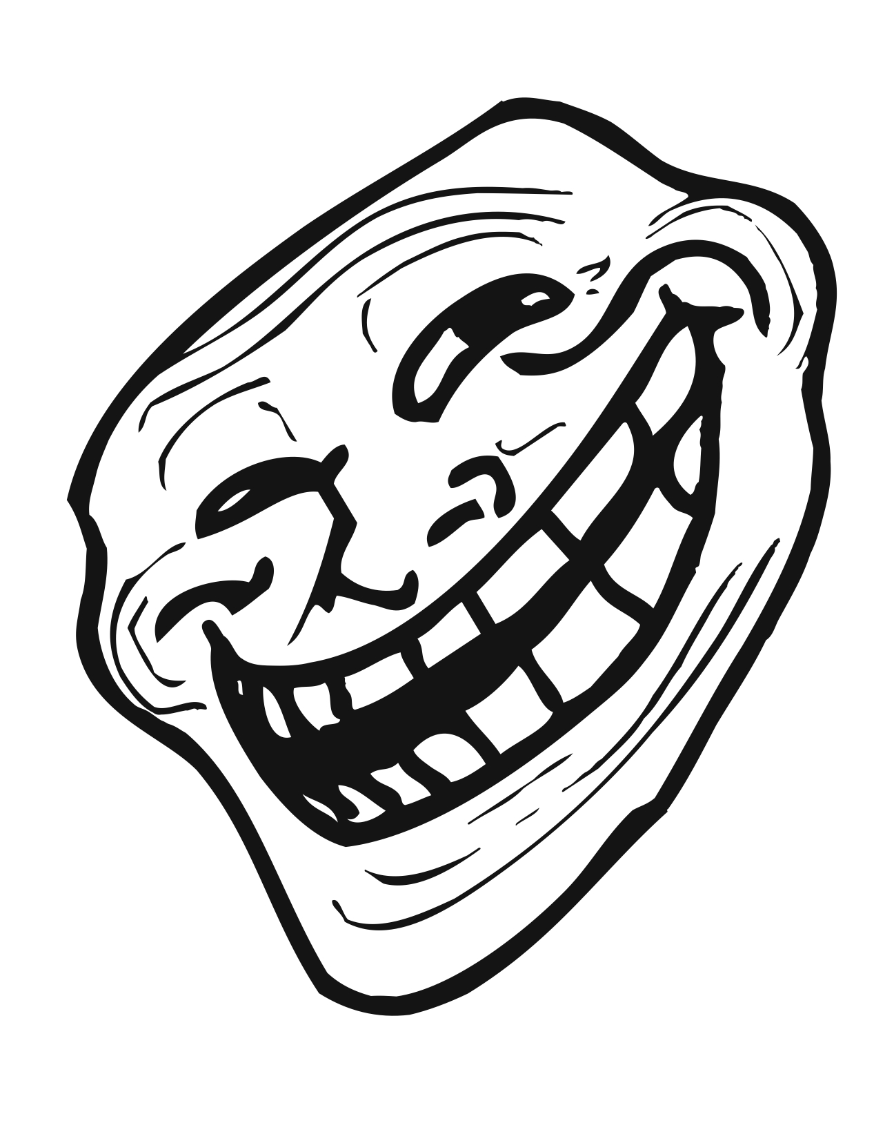 Trollface Troll Face Png Free Transparent Png Download Pngkey